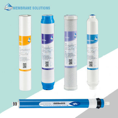 4-PACK RO Filters 5-Stage Reverse Osmosis Replacement Filter Kit With 50GPD RO