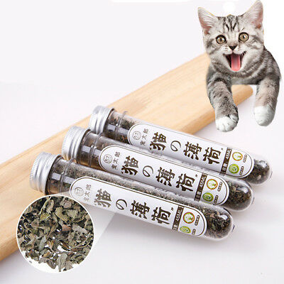 KE_ 1 Bottle High Quality 45ml Pet Kitten Cat Mint Snack Toys Catmint Grass Re