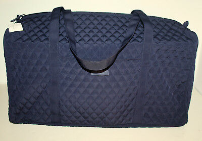 NWT Vera Bradley Large Duffel Classic Navy Blue Travel Carry On Luggage