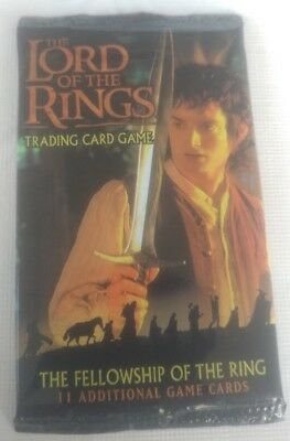 5 2001 Sealed Booster Packs Lord Of The Rings TCG The Fellowship Of The Ring!