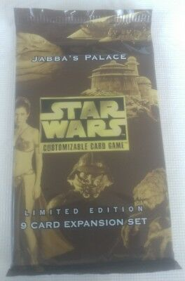 1998 Star Wars CCG Factory Sealed Booster Pack Jabba's Palace Limited Edition!