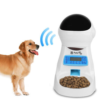 Automatic Pet Feeder Dog Food Dispenser LCD Voice Recording Timer Programmable