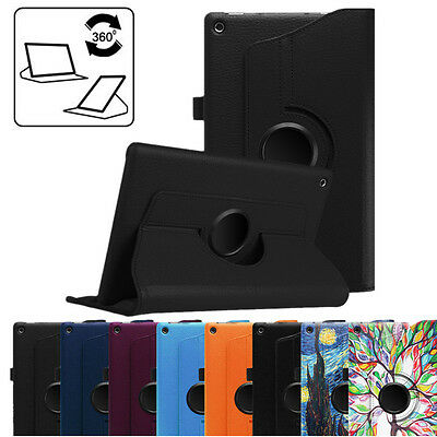 For New Amazon Fire HD 10 HD 8 2018 2017 2016 2015 360 Rotating Case Stand Cover