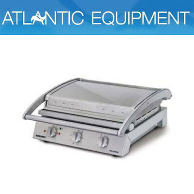 Roband GSA815R Grill Station, 8 slice ribbed top plate