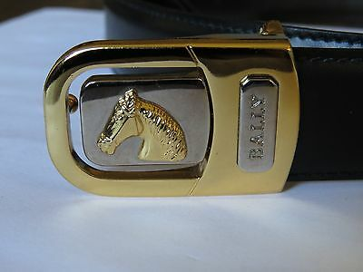 Vintage Bally Reversible black and brown belt with a horse head buckle