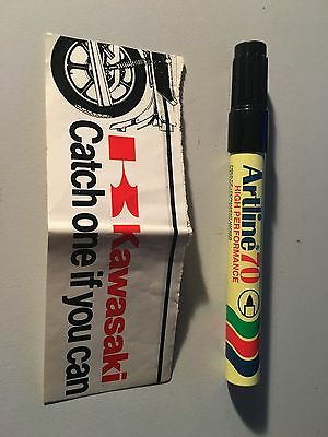 Kawasaki : Catch one if you can decal / sticker from early 1980s Z1000 Z250 Z750
