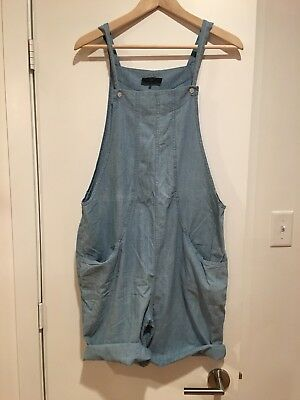 Hatch Maternity Collection Short Overalls Jumper Jumpsuit Denim  Size 1 S M
