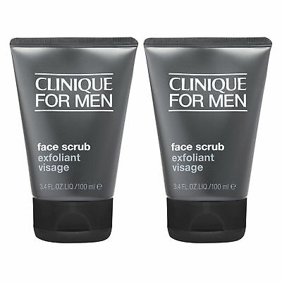 Clinique for Men Face Scrub 3.4oz 100ml Men Cleansers Smoothing Cleanse Skin x2