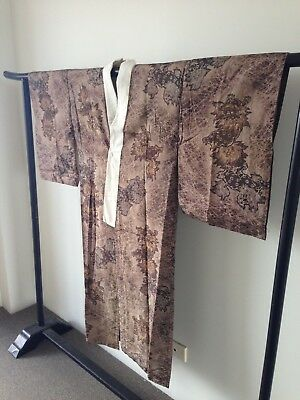 Vintage Japanese Authentic Kimono Hand Made Costume Robe One of a Kind