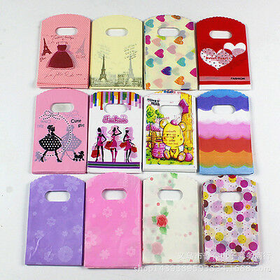 50Pcs Wholesale Lot  Mixed Pattern Plastic Gift Bag Shopping Bag XXZJ Sale