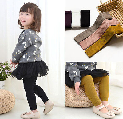 Toddler Kids Pantyhose Tights Stockings Warm Cotton Solid Socks for Baby Girls
