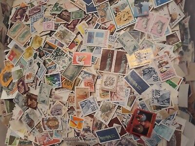 One pound bulk world stamps from collections. Hours of fun
