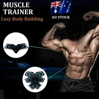 USB Body Muscle Body Arm Abdominal Massage Body Slim Trainer Rechargeable Belt B