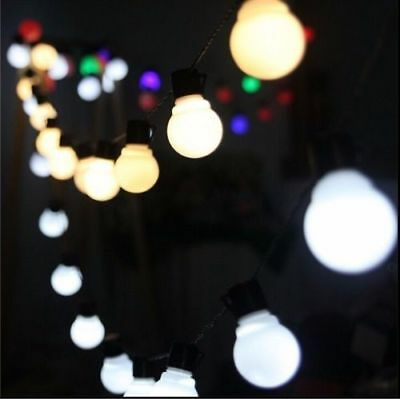 LED Bulb String Fairy Light Ball Lamp Xmas Party Wedding Outdoor Solar Powered
