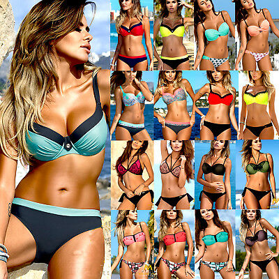 Swimwear Women Triangle Bikini Set Bandage Push Up Swimsuit Bathing Beachwear