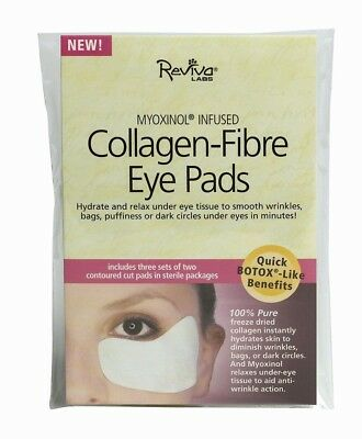 Collagen Fibre Eye Pads With Myoxinol Reviva 3pairs/pack Packet