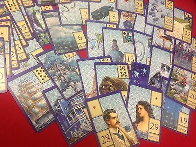 """Belvoir - Lilac Blue"" Lenormand ( Divination, tarot cards, fortune telling )"