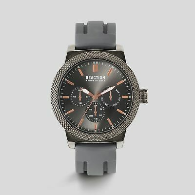 New Reaction Kenneth Cole Mens Multi-Functional Grey Gunmetal Watch