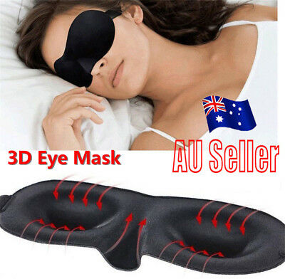 3D Eye Mask Soft Padded Sleep Travel Shade Cover Rest Relax Sleeping Blindfold K