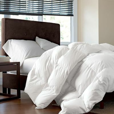 King Size Luxury Siberian White Goose Duvet Quilt 80% Down 20% Feather 10.5T