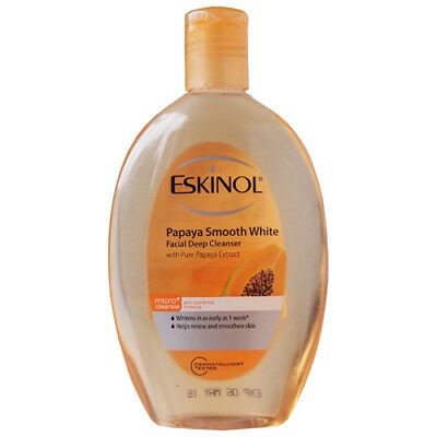 Eskinol Smooth White Deep Cleanser With Pure Papaya Extract - 225Ml