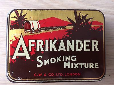"Vintage 2oz ""Afrikander"" Tobacco Tin. Vg Condition."