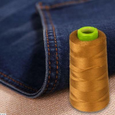 2000M THICK Polyester THREAD Upholstry Jeans Denim Button Sew Craft DIY Gold