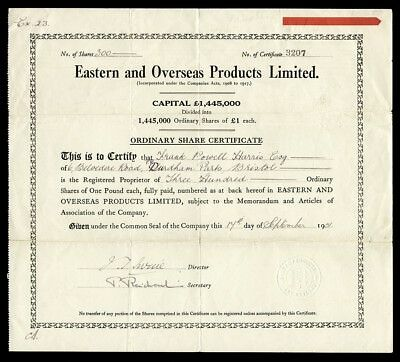 Eastern and Overseas Products Limited (1931)