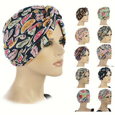Chemo Hair Loss Retro Fashion Head Wrap Cover Turban Hat GENTLE SOFT STRETCH