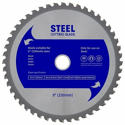 "Evolution (EVOSAW230) Replacement Saw Blade - Steel Cutting  9"" (230mm)"
