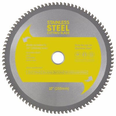 "Evolution (Rage3,Rage 5,Rage 6) Replacement Saw Blade Stainless Steel 10""(255mm)"