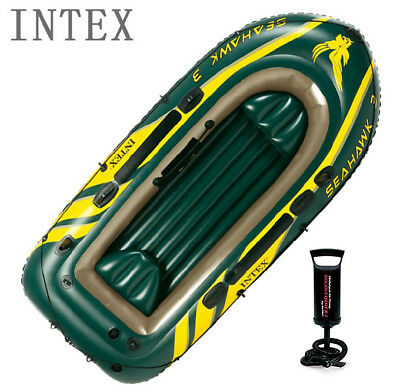 INTEX Inflatable Boat for 3 People with Pump & Kids Life Jacket Premium Quality