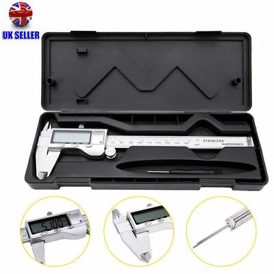 Stainless Steel Electronic Digital Vernier Caliper Micrometer Guage with case