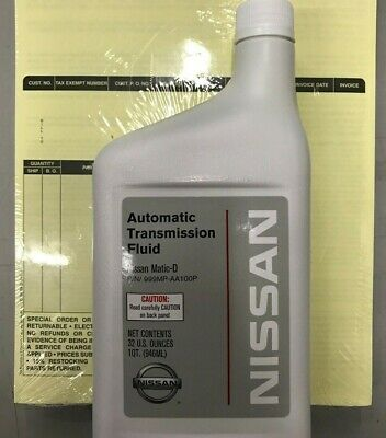 6 Quarts of Genuine Nissan 999MP-AA100P Matic-D Automatic Transmission Fluid OEM
