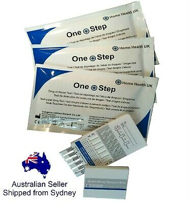3 x Drug Test Kit 7 in 1 Tests Cocaine THC Cannabis METH + more Urine Testing