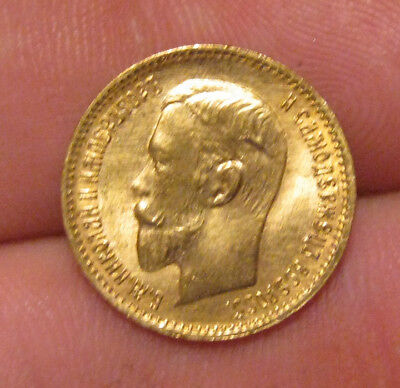 Russia - 1903 Gold 5 Roubles - Nice Coin!