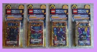 alle 4 Lego NEXO KNIGHTS Trading Card Serie 2 BLISTER mit LE12, LE13, LE14, LE15