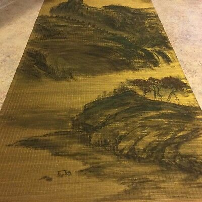JAPANESE HANGING SCROLL ART Painting  Landscape Asian antique