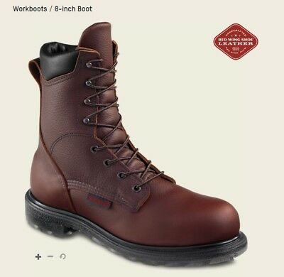 """Red Wing 2408 Men's Steel Toe Boots - 8"""" Lace-up Work Boots **Factory Seconds**"""
