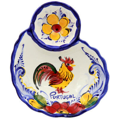 Hand Painted Traditional Portuguese Ceramic Olive Dish