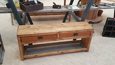 Vintage/Retro Style Changing/Dressing/Cloak Room Gym Bench Hall Bench Shoe Rack