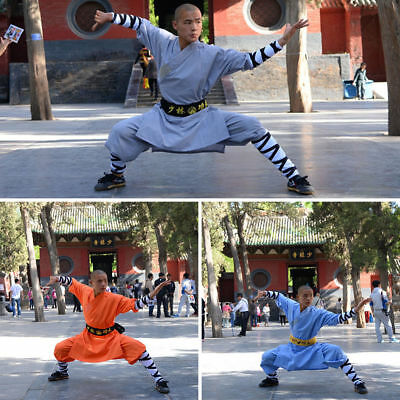 2color Shaolin monks suits wing chun kung fu clothing robe martial arts uniforms
