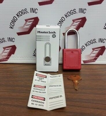 NEW Master Lock 410 RED Lock Out Padlock