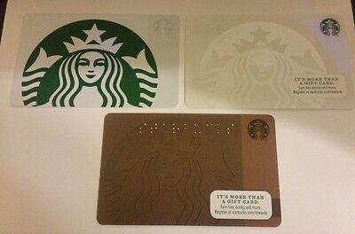 2015 **(Set of 3)**STARBUCKS Siren Mermaid GIFT CARD COLLECTION**BRAND NEW