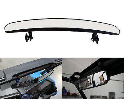 15'' Inch Wide Interior Race Convex Rearview Mirror With 1.75'' Adjustable Clamp