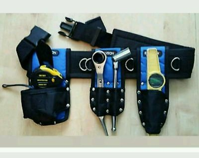 Scaffolding Nylon Tool Belt Set FULL Tools 1921mm Ratchet Spanner 716 Tape level