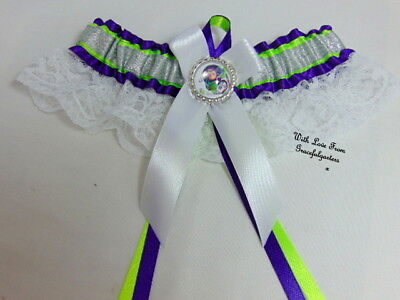 Buzz Lightyear Toy Story Lace  Bridal Wedding Garter.