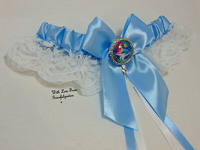 The Little Mermaid Ariel Lace Disney Bridal Wedding Garter.