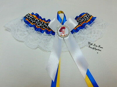 Woody Toy Story Lace  Bridal Wedding Garter.