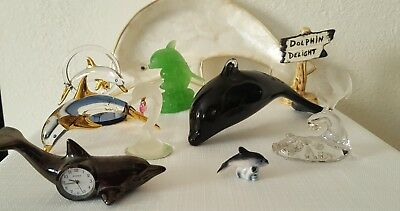 Lot Of DOLPHIN Porpoise Gemstone Figurines Collectibles